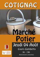 Marché potier de Cotignac (Var) le 4 août 2016 - Céramique et poterie