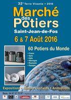 Marché des potiers de Saint Jean de Fos (Hérault) les 6 et 7 août 2016 - céramique et poterie