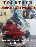 Marché potier de Tourtour (Var) le vendredi 19 août 2016 - céramique et poterie