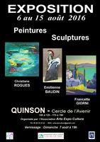 Exposition sculpture et peinture à Quinson (Alpes de Haute Provence) du 6 au 15 août 2016 - céramique Emilienne Baudin