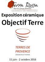Exposition Objectif Terre, Terres de Provence et Terra Rossa - Salernes (var) jusqu'au 2 octobre 2016 - ceramique