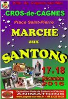 Foire aux santons de Cagnes sur Mer les 17 et 18 décembre 2016 - Crèches et santons à la Place Saint Pierre