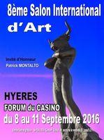 Exposition Salon International de Hyères (Var) du 8 au 11 septembre 2016 - Peinture, photographie... et Sculpturess céramique Emilienne Baudin