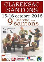 Marché aux santons au Foyer de Clarensac les 15 et 16 octobre 2016 (Gard)