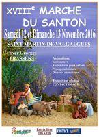 Foire aux santons de Saint Martin de Valgagues (Gard) les 12 et 13 novembre 2016 - crèches et santons