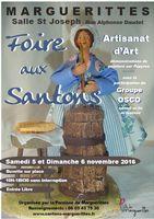 Foire aux santons de Marguerittes (Gard) les 5 et 6 novembre 2016 - crèches et santons de Noël