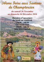 Foire aux santons de Champtercier (Alpes de Haute Provence) du 26 novembre au 4 décembre 2016