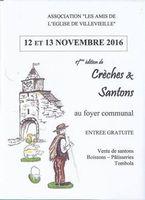 Foire aux santons de Villevieille (Gard), les 12 et 13 novembre 2016