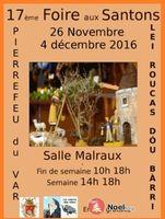 Foire aux santons de Pierrefeu du Var du 26 novembre au 4 décembre 2016