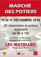 Marché potiers des Matelles (Hérault) les 10 et 11 décembre 2016