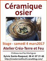 Stage céramique-osier à l'atelier Créa-Terre et Feu (Châteauneuf les Martigues) - le 4 mars 2017