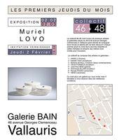 Les 1ers jeudis de Vallauris (Alpes Maritimes) - Muriel Lovo, Atelier Loupmana céramique - Février 2017