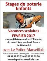 Stage de poterie enfants à Marseille, vacances d'hiver de février 2017 - céramique loisirs créatifs