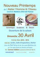 Nouveau Printemps de l'Atelier de L'Homme et l'Oiseau le 30 avril 2017 à Montclus (Hautes Alpes)