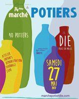 Marché potier de Die (Drôme) 27 mai 2017 - céramique et poterie