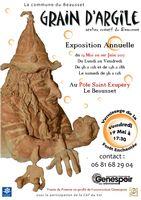 Exposition-vente Grain d'Argile au Pôle Saint-Exupéry du Beausset (Var) - du 19 mai au 1er juin 2017