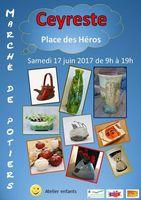 Marché potier de Ceyreste (Bouches du Rhône) le 17 juin 2017 - céramique et poterie, vaisselle et objets de décoration