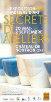 Exposition métiers d'art, Secrets d'ateliers, à Nontron (Périgord) du 20 mai au 2 septembre 2017