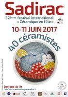 Céramique festival Sadirac les 10 et 11 juin 2017 - marché potier, expositions, animations...
