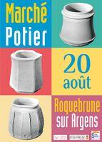 Marché potier de Roquebrune sur Argens (Var) le 20 août 2017, céramique et poterie, animations, démonstrations