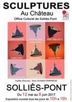 Sculptures au château de Solliès-Pont (Var), jusqu'au 8 juin 2017 - céramique, bois, pierre, bronze...