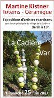 Totems céramique Martine Kistner - Exposition art et artisanat village La Cadière (Var)
