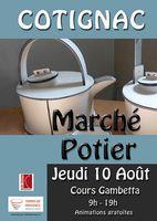 Marché potier de Cotignac (var) le jeudi 10 août 2017 - céramique et poterie