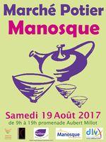 Marché potier de Manosque (Akpes de haute Provence) le samedi 19 août 2017 - céramique et poterie