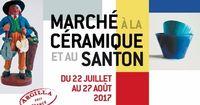 Marché de la céramique et du santon à Aubagne en Provence, du 22 juillet au 27 août 2017
