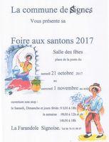 Foire aux santons de Signes (Var) du 21 octobre au 1er novembre 2017 - crèches et santons de Provence