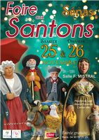 Foire aux santons de Sénas (Bouches du Rhône) les 25 et 26 novembre 2017 -crèches et santons
