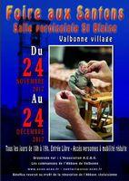 Foire aux santons de Valbonne (Alpes Maritimes) du 24 novembre au 24 décembre 2017- crèches et santons de Provence