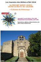 Journées des Métiers d'Art 2018 au Prieuré St Agnès (Drôme), exposition céramique, démonstrations, ateleirs