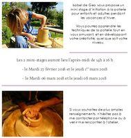 Mini-stages de poterie à Orgon (Bouches du Rhône) - Vavances hiver 2018 - Isabel de Gea