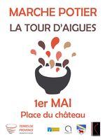 Marché potier de La Tour d'Aigues (Vaucluse) le 1er mai 2018 - céramique et poterie