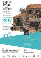 Foire aux santons de Gréoux les Bains (Alpes de Haute Provence) du 26 octobre au 4 novembre 2018