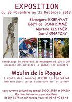 Exposition d'Art, Céramique Martine Kistner au Moulinde la Roque (Le Castellet - Var)