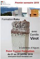 Formation Raku avec Camille Virot, du 21 au 25 janvier 2019 à Cabrières d'Aigues (Vaucluse) Point fusion formation