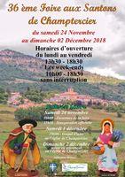 Foire aux santons de Champtercier (Alpes de Haute Provence) du 24 novembre au 2 décembre 2018