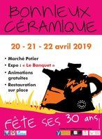 Marché potier de Bonnieux (Vaucluse) les 20, 21 et 22 avril 2019