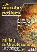 Marché potier de Millau (Aveyron) les 25 et 26 mai 2019, La Gaufresenque