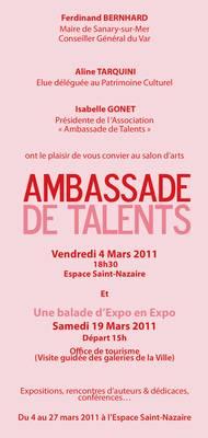 4 au 27 mars 2011  | Exposition Ambassade de Talents à Sanary-sur-Mer