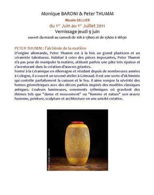 1er juin au 2 juillet 2011 | Exposition Peter Thumm au Musée Sellier (83)