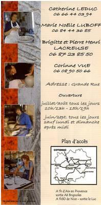 Juin à Sept.2011  | Ouverture boutique céramique contemporaine à Cotignac