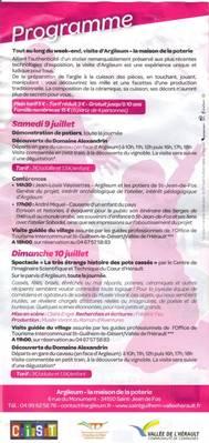 9 et 10 juillet 2011 | Inauguration de la Maison de la Poterie Argileum à Saint Jean de Fos