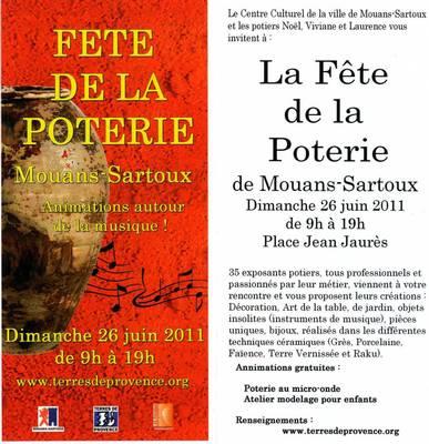 26 juin 2011 | Fête de la poterie à Mouasn Sartoux