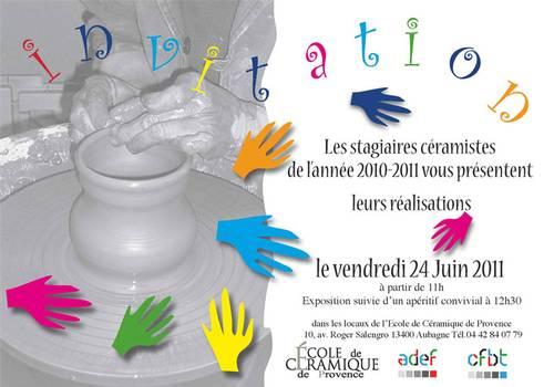 Le 24 juin 2011 | Exposition des diplômés de l'Ecole de la Céramique de Provence à Aubagne (13)