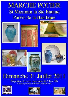 31 juillet 2011 | Marché potier à Saint Maximin la Sainte Beaume (83)