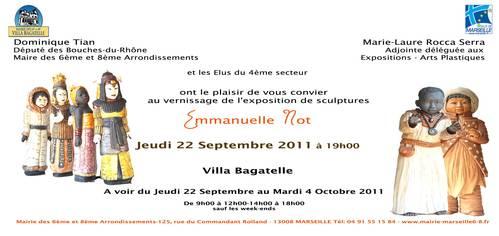 22 sept. au 4 oct. 2011 | Exposition  Emmanuelle Not à la Villa Bagatelle (13)