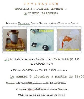 3 au 24 déc. 2011 | Exposition Trois créatrices trois techniques à Saint Mitre les Remparts (13)
